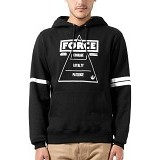 JERSICLOTHING Unisex Hoodie Star Wars The Force  Velvet/Flock Print Size XL - Black