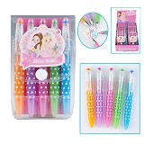 TOP MODEL My Styles Princess Glitter Gel Pen Set [TM 8271] - Pulpen Gambar / Drawing Pen