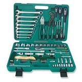JONNESWAY Dr Tool Kit 77Pcs 1/2 inch & 1/4 inch [S04H52477S] - Tool Set