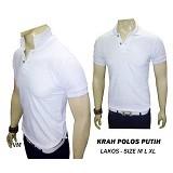 VANMARVELL Krah Polos Size L - Putih - Polo Pria