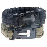 SOHO Gelang Survival Paracord Plastic Buckle - Pemantik Korek Api / Flint