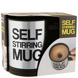 RAJA UNIK Self Stirring Mug - Black - Gelas