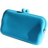 LTISHOP Dompet Paspor Silikon - Light Blue - Dompet Wanita