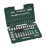 "SATA DR Socket Set Metric 1/2"" 58Pc [09007] - Kunci Sok Set"