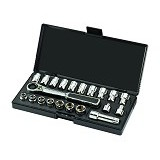 "SATA DR Socket Set Metric SAE 3/8"" 21Pc [09134] - Kunci Sok Set"
