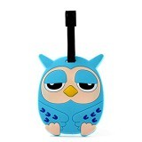 LTISHOP Luggage Tag Owl - Blue - Name Tag Tas / Luggage Tag
