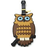 LTISHOP Luggage Tag Owl - Brown - Name Tag Tas / Luggage Tag
