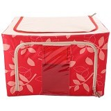 FIRST PROJECT Steel Frame Oxford Storage Box - Red - Container