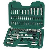 "SATA DR Socket Wrench Set Metric 1/4"" & 1/2"" 76Pc [09519] - Kunci Sok Set"