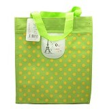 SSLAND Paris Polkadot Bag 31cm [TA86] - Green (V) - Tote Bag Wanita