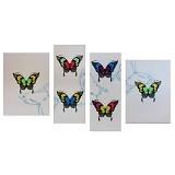 LUKISANKU Lukisan Minimalis M-Butterfly - Wall Art / Hiasan Dinding