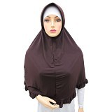 VSTAR Hijab Bergo Umi - Dark Brown (V)