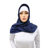 VSTAR Luxury Silk BB Hijab - Navy Blue (V)