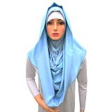 VSTAR Hijab Instant Cavoly - Light Blue (V)