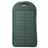 BERZET Solar Charger Powerbank 5000mAh - Black - Portable Charger / Power Bank