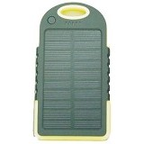 BERZET Solar Charger Powerbank 5000mAh - Yellow - Portable Charger / Power Bank