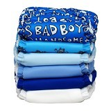 CHARLIE BANANA 6 Diapers 12 Insert Set Boy One Size - Cloth Diapers / Popok Kain