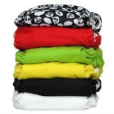 CHARLIE BANANA 6 Diapers 12 Insert Set Zooloo One Size - Cloth Diapers / Popok Kain