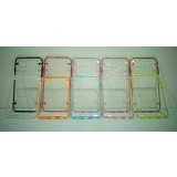 BERZET Ultra Thin Transparant Crystal Case for iPhone 6  - Pink - Casing Handphone / Case