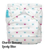 CHARLIE BANANA Diapers 2 Insert Lovely Blue One Size in Bellywrap - Cloth Diapers / Popok Kain