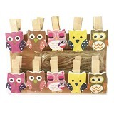 KLAUS Wooden Clip Owl - Photo Display / Frame