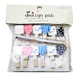 KLAUS Wooden Clip Love Polkadot - Photo Display / Frame