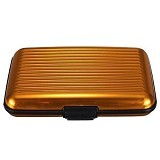 SSLAND Aluminum Metal Case Card Holder - Gold (V)
