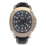 ALEXANDRE CHRISTIE Automatic Leather [AC6293] - Black - Jam Tangan Pria Casual