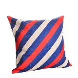 OLC Bantal Sofa Motif Blue Red Line [Q863]