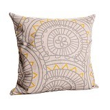 OLC Bantal Sofa Motif Soft Carving Circle [Q2433] - Bantal Dekorasi
