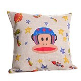 OLC Bantal Sofa Motif Monkey to the Moon [Q113] - Bantal Dekorasi