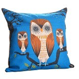 OLC Bantal Sofa Motif OWL at Mid Night [Q404] - Bantal Dekorasi