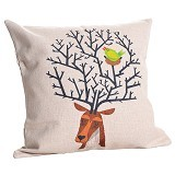 OLC Bantal Sofa Motif Sleepy Deer [Q407] - Bantal Dekorasi