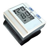 Mini LCD Digital Wrist Blood Pressure Portable + Heart Rate Monitor