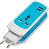 AUKEY Cable Extension Dual USB 2 Port - Blue - Universal Charger Kit