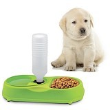 SKY88SHOP FinePet Pet Feeder Cat and Dog - Green (Merchant) - Wadah Makanan Anjing