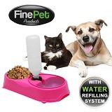 SKY88SHOP FinePet Pet Feeder Cat and Dog - Pink (Merchant) - Wadah Makanan Anjing