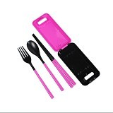 SKY88SHOP Sendok Travelling Set - Pink (Merchant) - Peralatan Makan Set