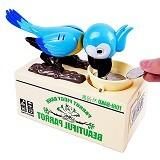 SKY88SHOP Tori Bako Parrot Piggy Bank - Blue (Merchant) - Mainan Simulasi