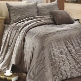 SLEEP BUDDY Extra King Size Bed Sheet Sutra Tencel - Oceanic Dark Grey - Kasur