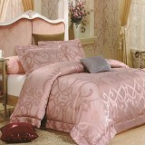 SLEEP BUDDY Extra King Size Bed Sheet Sutra Tencel - Ulir Pink - Kasur