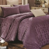 SLEEP BUDDY King Size Bed Sheet Sutra Tencel Square - Deep Purple - Kasur