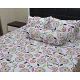 SLEEP BUDDY Queen Size Bed Sheet Katun - Flowerfull - Kasur