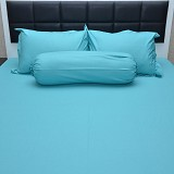 SLEEP BUDDY Single Size Bed Sheet Katun Plain - Tosca - Kasur