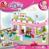 SLUBAN Bricks M38 B0527 Snooker Club [305002549] (Merchant) - Building Set Occupation