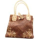 SMESCO Tas Anyam Kulit Ular [088-006039] - Coklat - Tote Bag Wanita