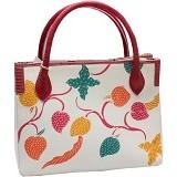 SMESCO Tas Batik Kombinasi Kulit Ular Phyton [660-034573] - Putih - Tas Tangan Wanita