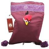 SMESCO Tas Batik Polos Besar Motif Angry Bird [076-036332] - Ungu - Tote Bag Wanita