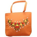 SMESCO Tas Bunga Timbul Sedang [203-010980] - Orange - Tote Bag Wanita