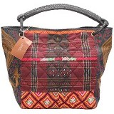 SMESCO Tas Handle Batik Ulos [088-017986] - Merah/Hitam - Tas Tangan Wanita